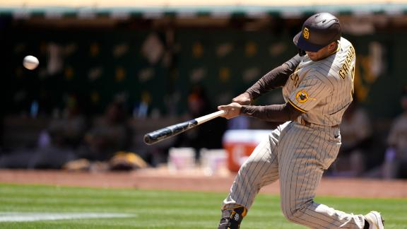 Trent Grisham's double powers Padres' win vs. A's