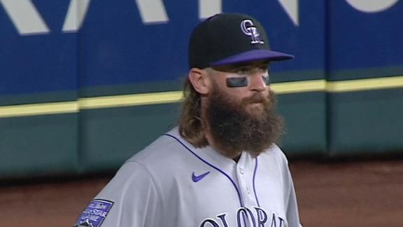 Charlie Blackmon has had better throws than this one