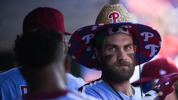Bryce Harper rocks a Phillies bucket hat after a HR