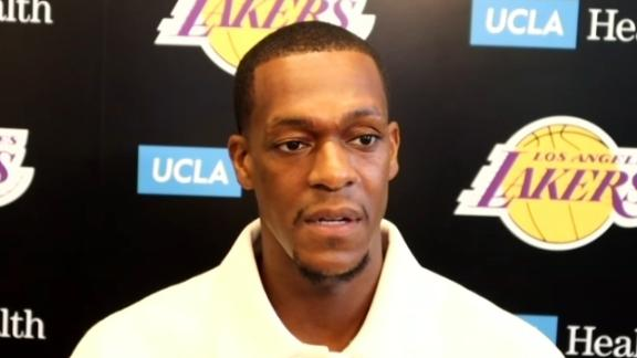 Rondo jokes he's excited to be one of the 'young guys' on the Lakers
