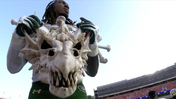 Is that a dragon skull? UAB shows off unusual turnover chain