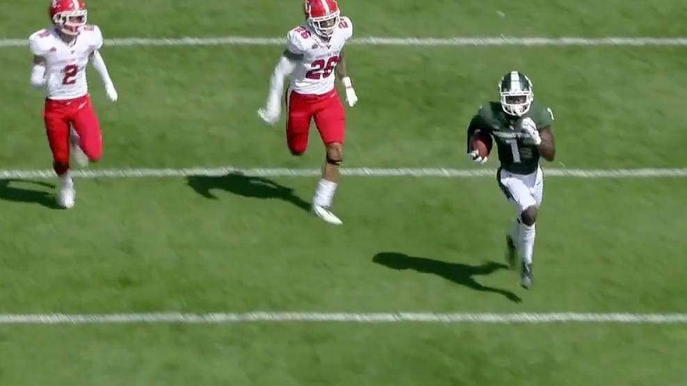 Michigan State strikes on first play from scrimmage with flea-flicker