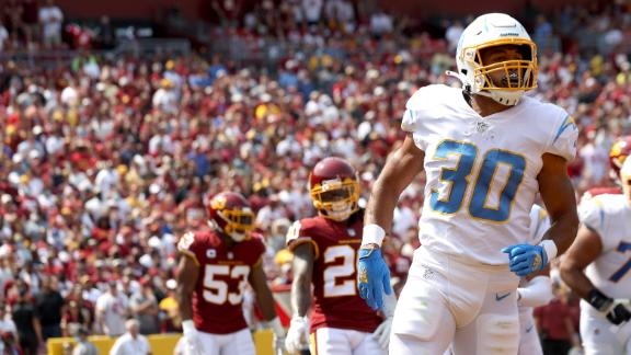 Ekeler easily finds the end zone for the Chargers