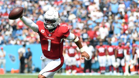 Kyler Murray throws 4 TDs, runs in another vs. Titans