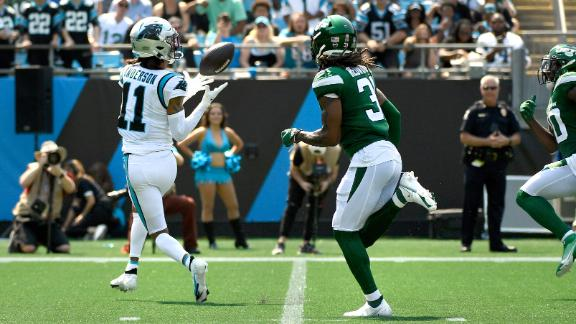 Sam Darnold, Robby Anderson link up for TD vs. former team