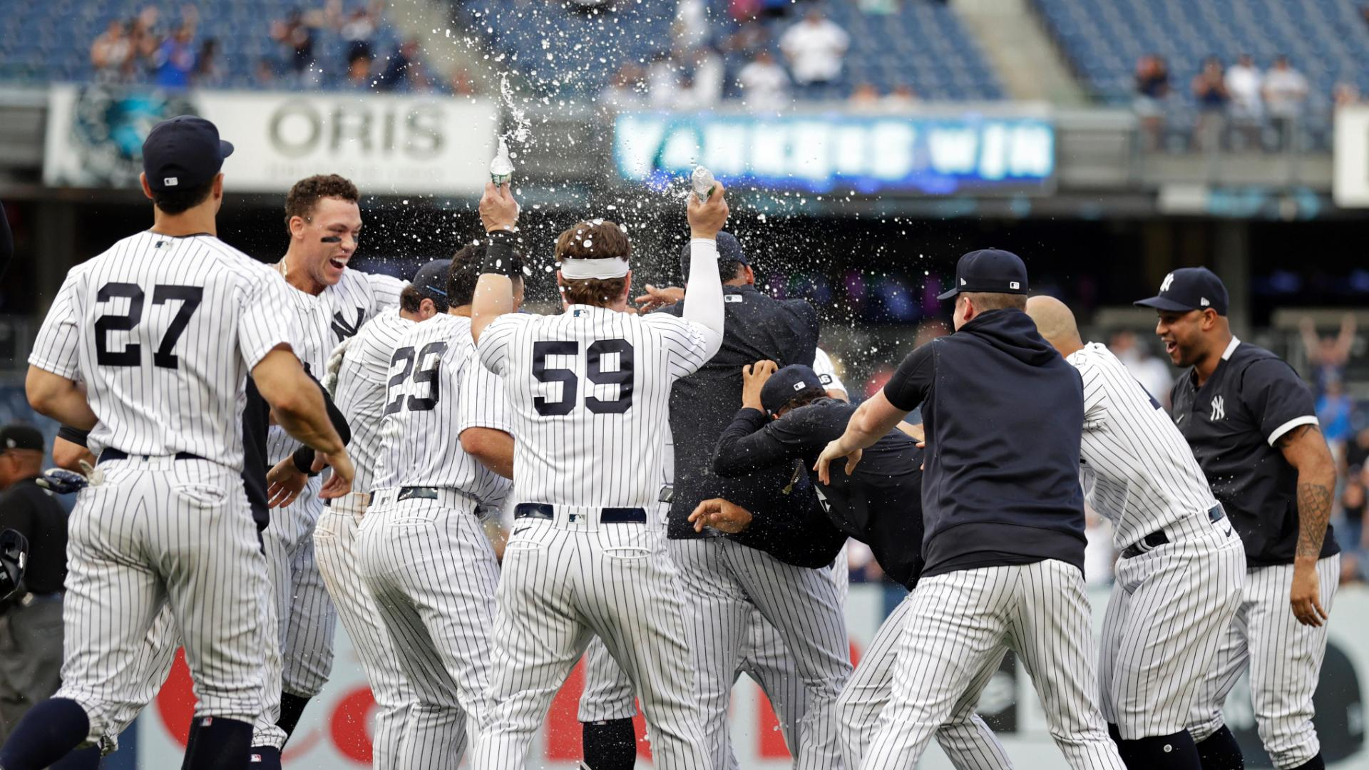Gary Sanchez lifts Yankees in 10th inning with walk-off single