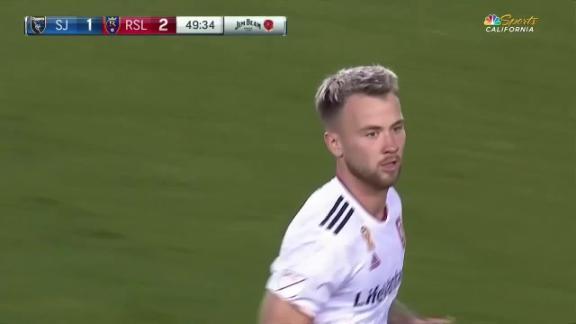 Javier López goal 50th minute San Jose Earthquakes 2-2 Real Salt Lake