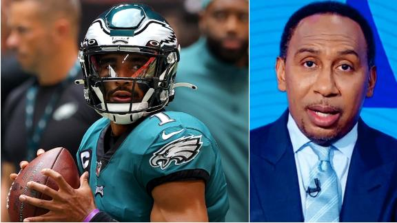 Stephen A. wants to pump the brakes on the Jalen Hurts hype