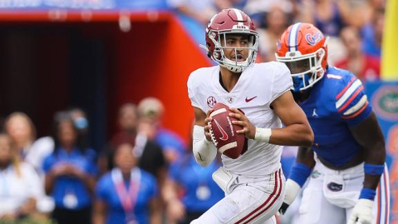 Bama barely survives the Swamp in 31-29 thriller