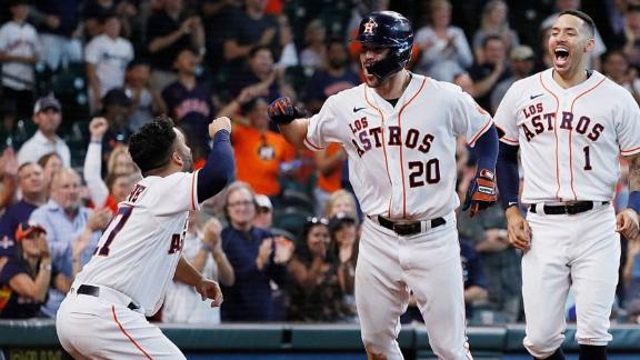 Astros rally to victory with three-run eighth inning