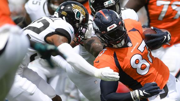 Fant catches 14-yard pass for Broncos' second TD
