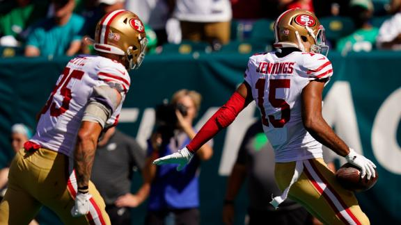 49ers get TD before the half as Garoppolo finds Jennings