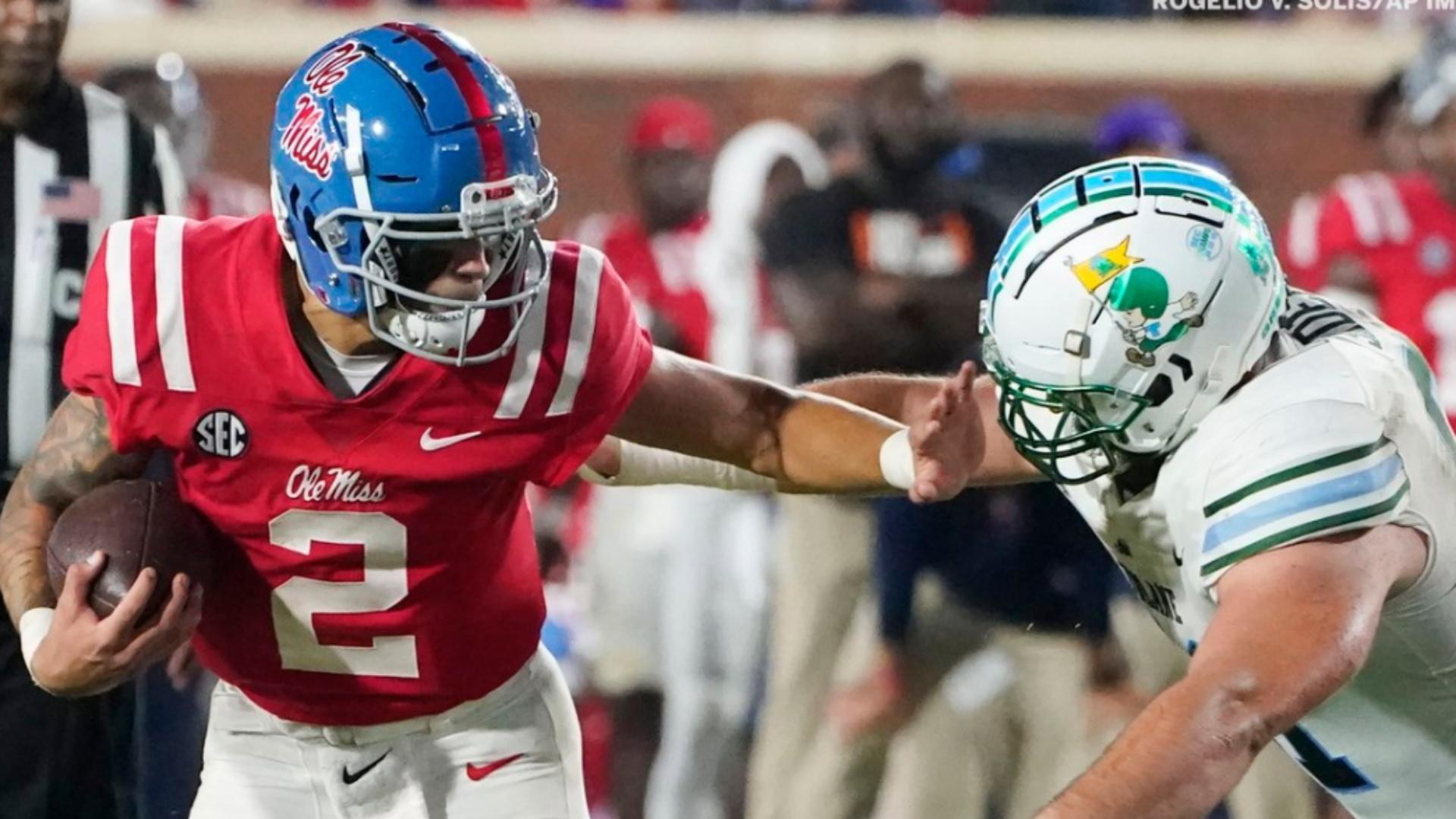 Matt Corral's 7 TD day leads Ole Miss to victory