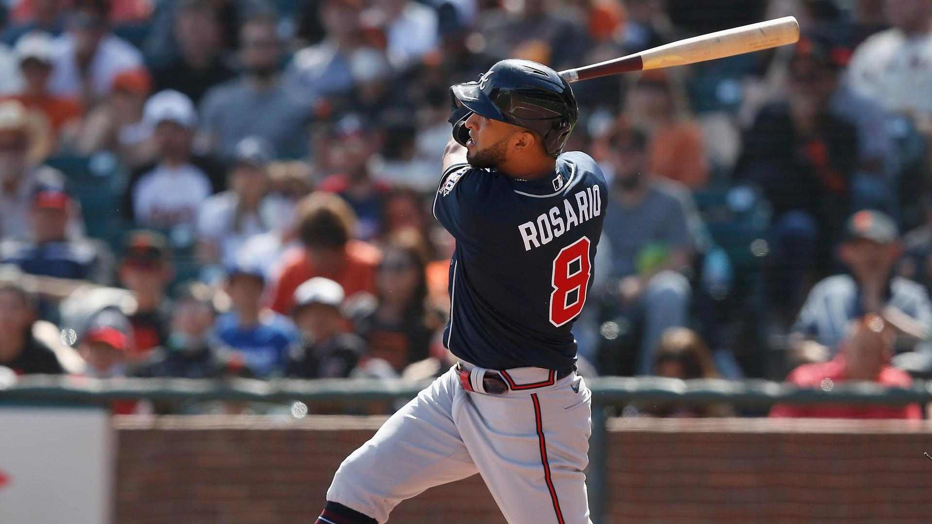 Eddie Rosario hits for the cycle