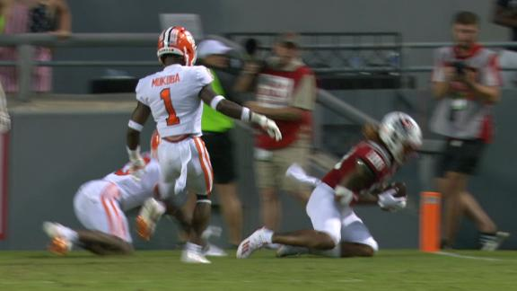 NC State takes lead over Clemson in 2OT with incredible TD catch