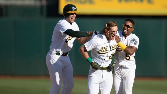Canha walks it off for the A's to complete sweep of Astros