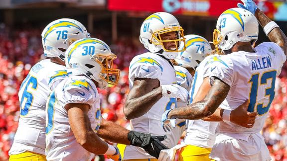 Chargers top Chiefs on Herbert's TD pass to Williams