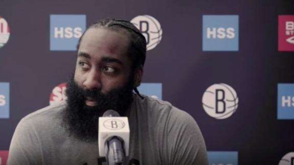 Harden on Kyrie: 'I want him to be on the team'Harden on Kyrie: 'I want him to be on the team'