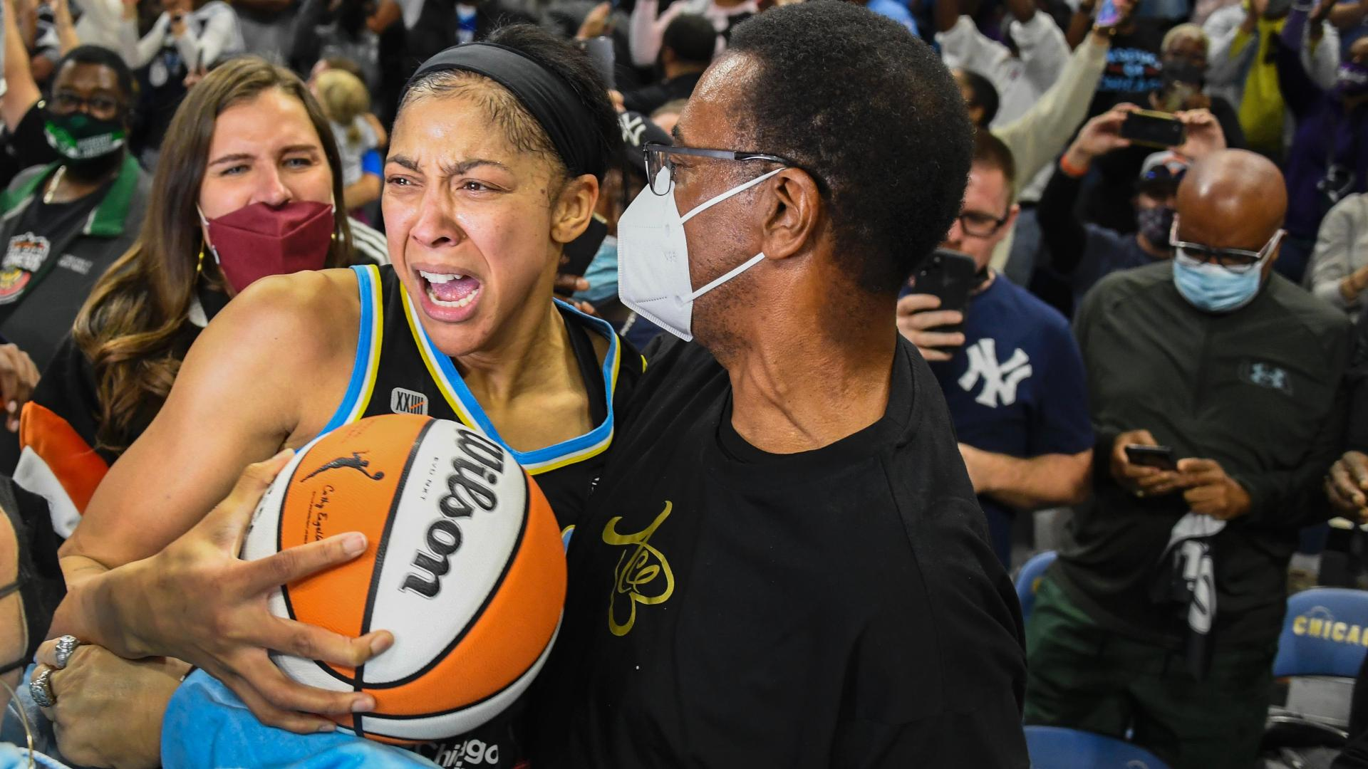 Candace Parker emotional as Sky win first WNBA title