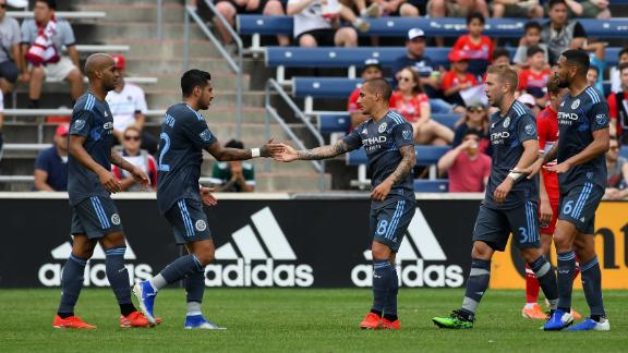 Mitrita saves points for NYCFC against Fire