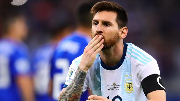 Messi's penalty keeps Argentina's Copa America hopes alive