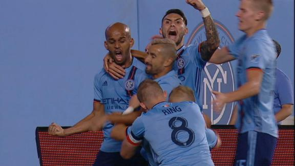 Heber scores stunning backheel goal for NYCFC