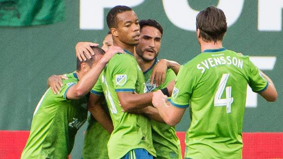 Seattle hang on for big win at Portland