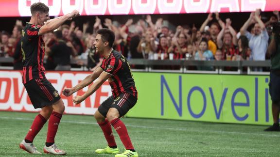 Josef Martinez's record streak ends in Atlanta win