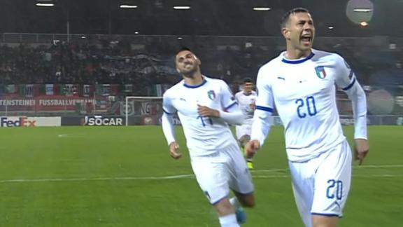Italy score quickly in Liechtenstein