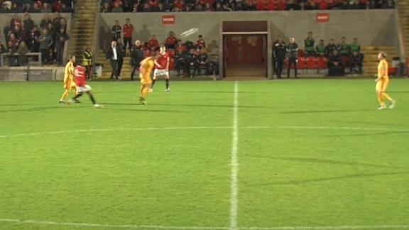 Basford United's Galinski scores with ridiculous header