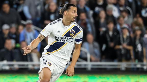 Zlatan and LA Galaxy hold off Minnesota to advance