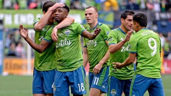 Leerdam's deflected shot puts Seattle in front