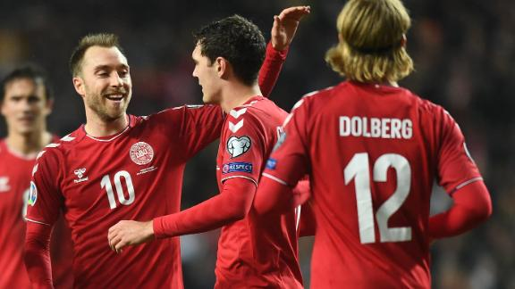 Eriksen scores 30th international goal in Denmark rout