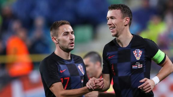 Perisic's header the difference for Croatia