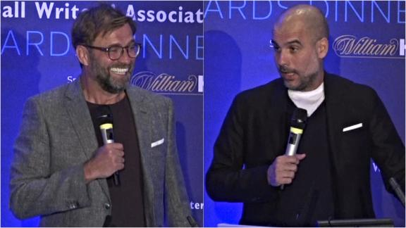 Klopp and Guardiola poke fun at each other at FWA dinner