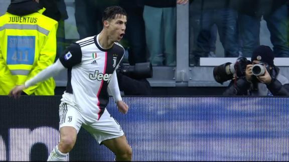 Ronaldo scores first half brace for Juventus