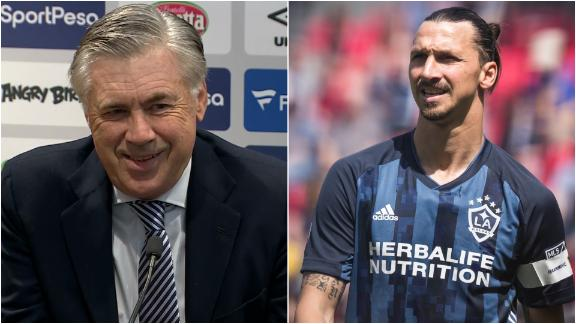 Ancelotti reacts to Zlatan to Everton rumours