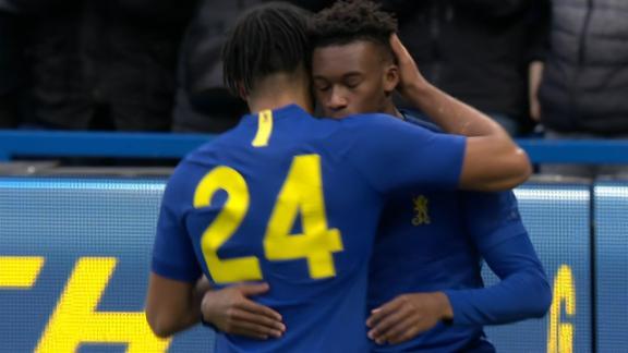 Callum Hudson-Odoi opens up Chelsea's scoring