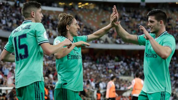 Real Madrid outclass Valencia en route to Supercopa final
