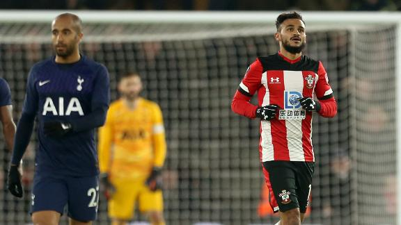 Tottenham denied by late Southampton equalizer