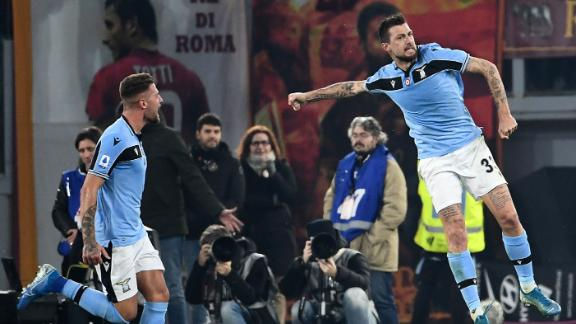 Unbelievable Roma mishap allows Lazio to equalize