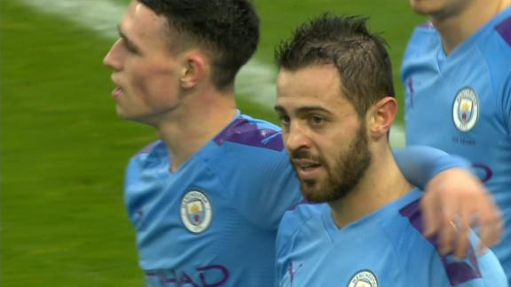 Bernardo Silva makes it 2-0 after 20 minutes