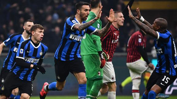 Inter stage stunning comeback to win Milan derby