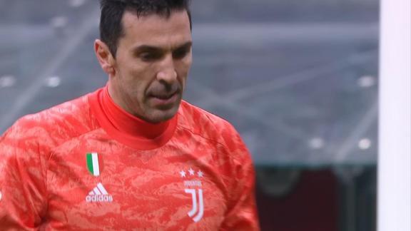 Gianluigi Buffon denies AC Milan's Calabria