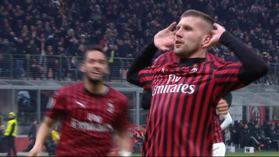 Red-hot Rebic volleys Milan into the lead