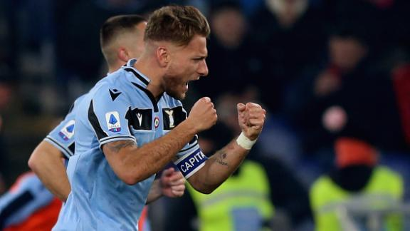 Lazio beat Inter to move into second