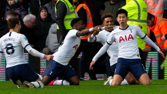 Late Villa mistake gifts Spurs victory