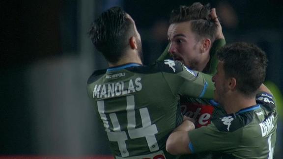 Stunning Ruiz curler puts Napoli in front