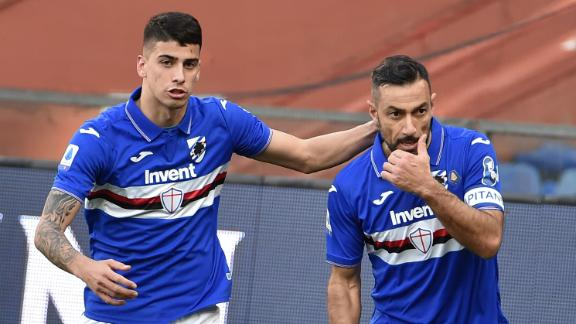 Quagliarella's brace lifts Sampdoria away from relegation