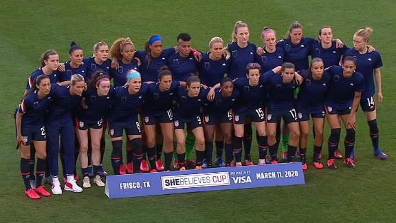 USWNT wear shirts inside out in protest